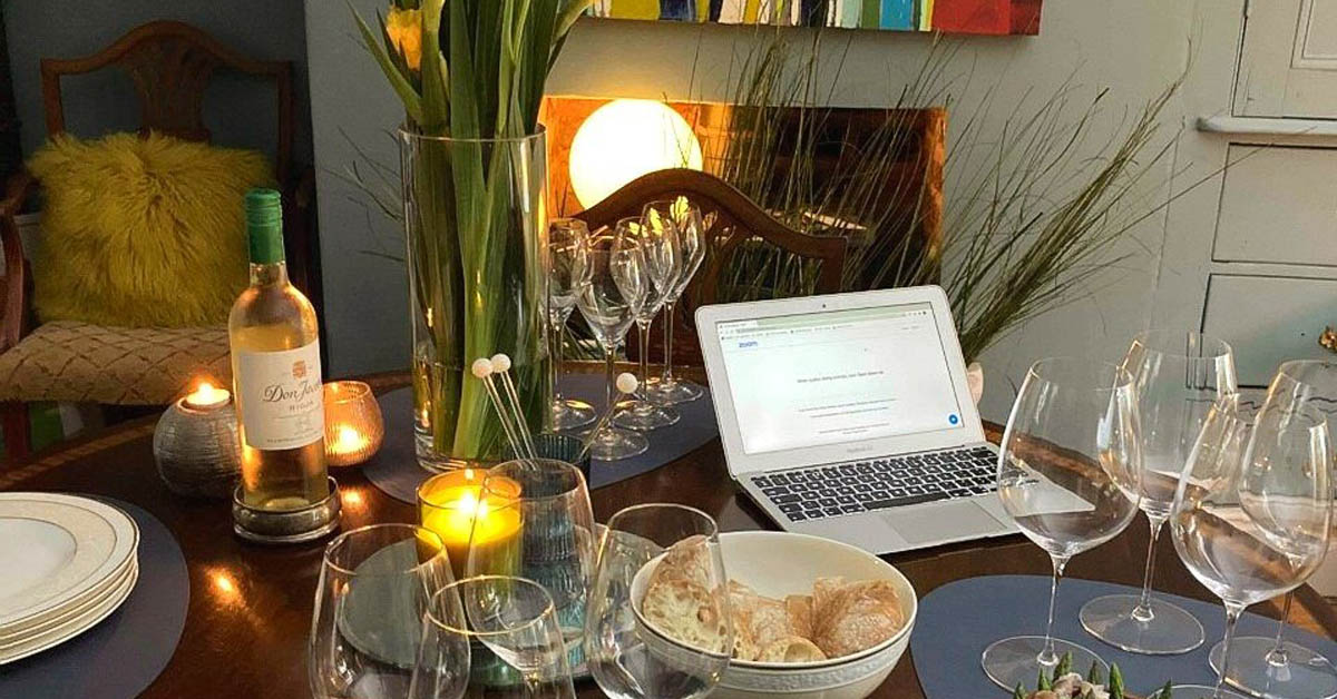 how to organise a virtual wine tasting