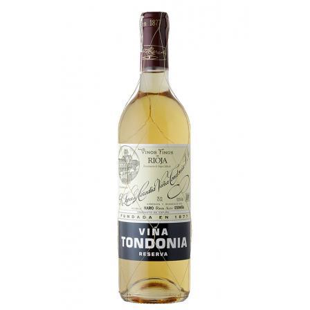 A bottle of viña tondonia reserva white 2001 100 points tim atkin 2021